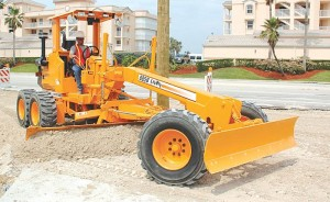 Articulated frame motor grader