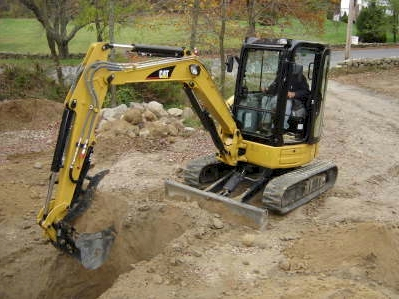 making Trenching using excavators