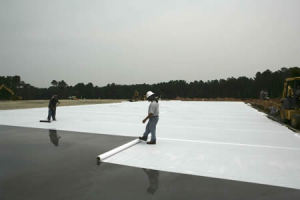 fresh concrete curing, fresh concrete covering, gunny bags,