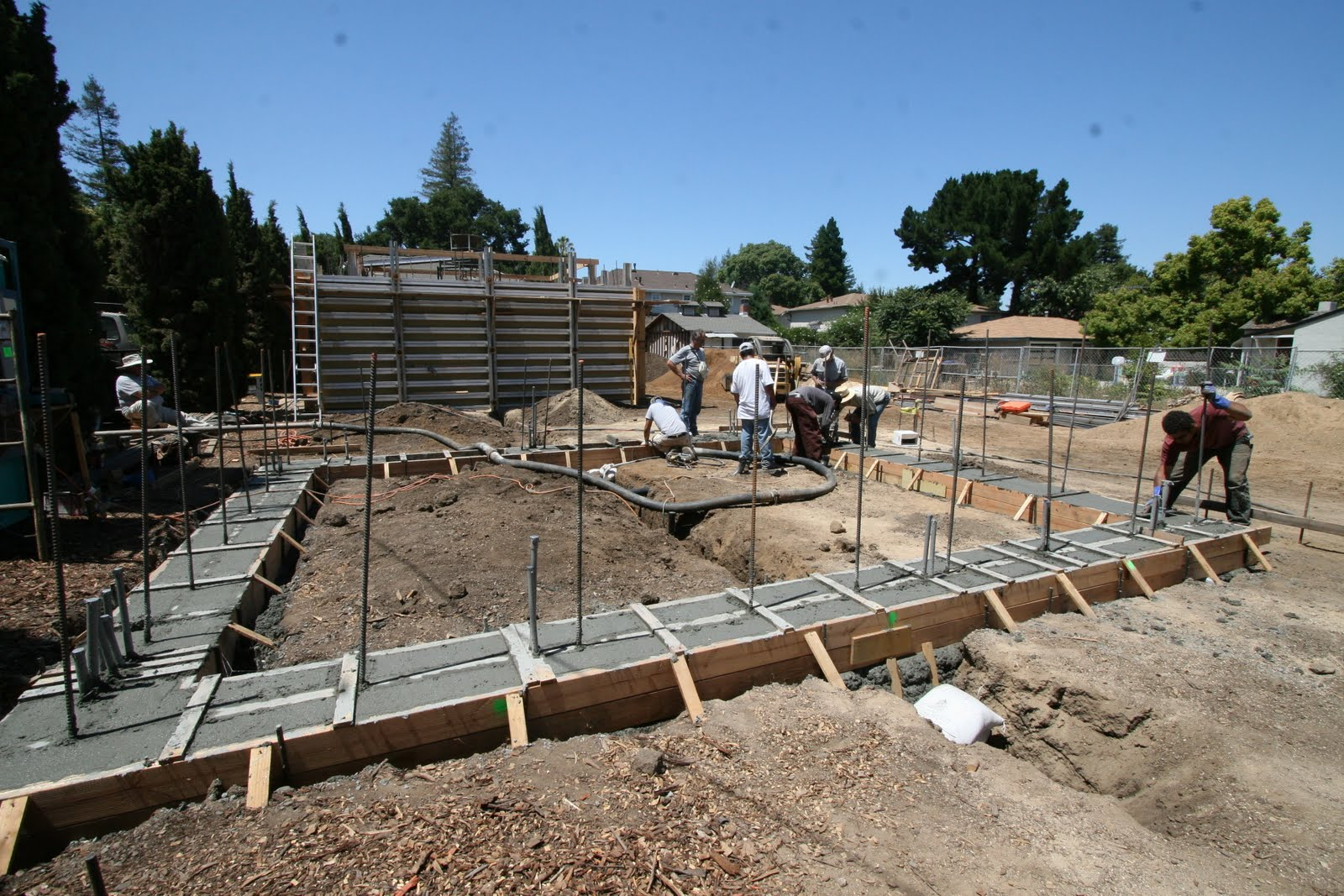 Steps in construction of residential building for Different foundations